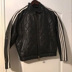Adidas LEATHER track jacket WOW